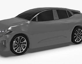 3D model byton m-byte hybrid SUV