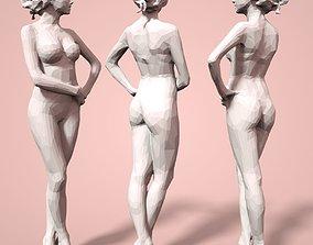 3D printable model Girl Low poly Sculpture replicas