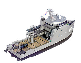 3D asset MILITARY MULTI-ROLE AUXILIARY VESSEL
