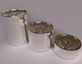 tin 3D Tins Cans Pack
