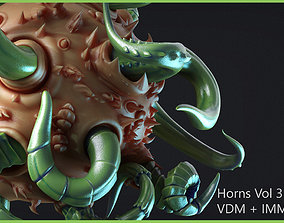 Zbrush - Horns Vol 2 - 25 VDM and IMM Brushes 3D