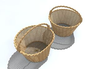 container Wicker basket 3D model