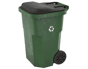 3D model Garbage Container 1 Lowpoly