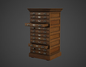 3D asset File Cabinet Drawer Low Poly Game Ready