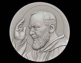 3D print model Padre Pio Medallion