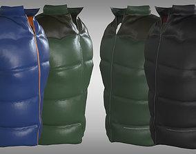 3D asset Feather Vest
