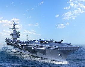 Aircraft Carrier USS Gerald Ford CVN78 3D model