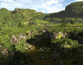 3D model Cracked valley in Blender