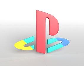 3D model Playstation Logo v1 003