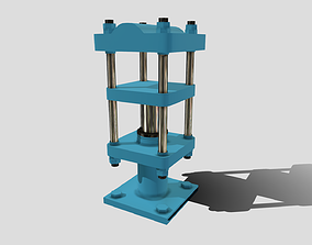 3D asset Machine - Hydraulic Rubber Press