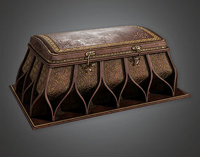 low-poly Ornate Ancient Treasure Chest 01 TRS - PBR Game 1