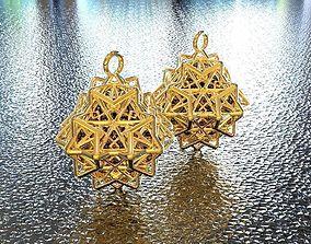 3D print model BRO WOVEN OCTAHEDRON EARRING