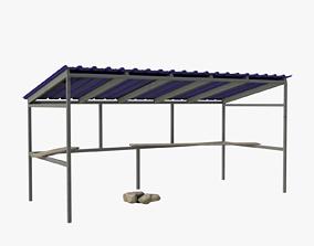 3D asset Metal Shelter