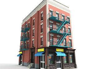 3D model Nyc Building 02 Type 1