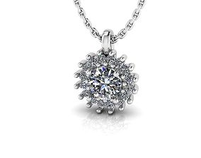 Diana Style Diamonds Pendant 3D print model
