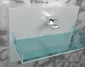 3D interior modern sink
