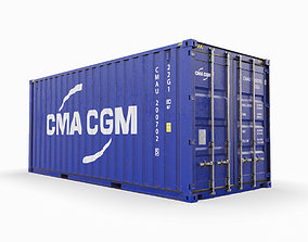 3D 20 feet CMA-CGM standard shipping container