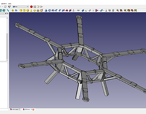 3D printable model Large Modular Hexacopter Drone Frame