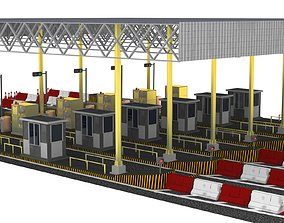 Toll Plaza Station 3D