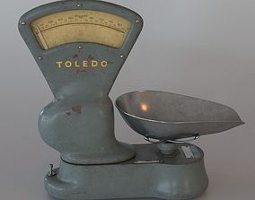 3D Vintage scale industrial