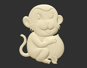 3D print model baby monkey