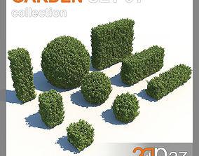 3D Garden Set 01
