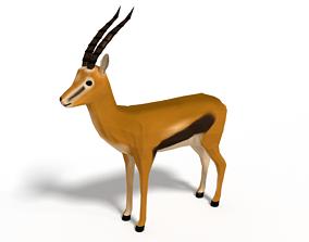 Low Poly Cartoon Thompson Gazelle 3D model