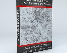 Novosibirsk Road Network and Streets 3D model