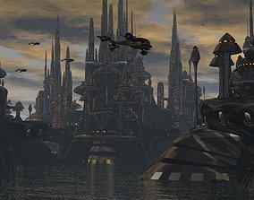 HOalo City In Future 3D model