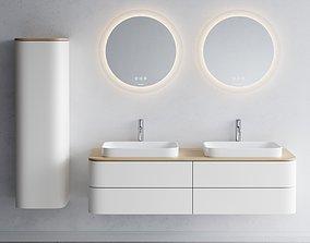 Duravit HAPPY D2 PLUS Double vanity unit 3D asset