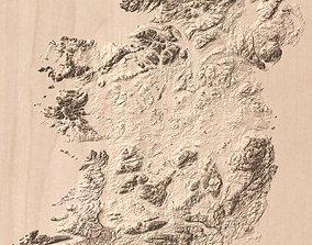 morphology Surface terrain topo model of Ireland