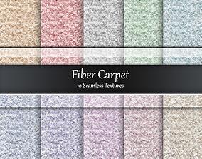 Fiber Carpet Seamless Textures Set 3D model