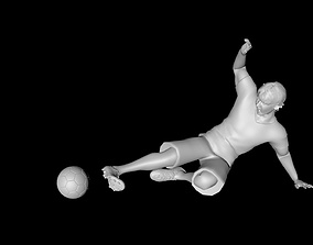 poly 3D model Football Player
