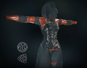 Female Assassin Outfit 1 3D model