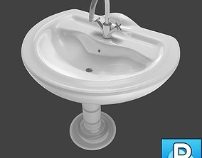 3D model Sink and faucet