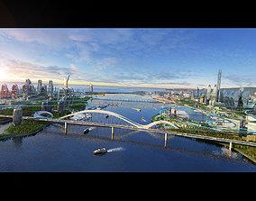 3D asset Future urban architecture
