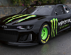 2018 NASCAR Camaro 3D asset