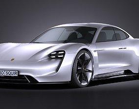Porsche Mission E Concept 2015 VRAY 3D model