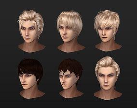 men man hair boy hair hair style 02 3D asset