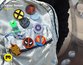 3D printable model Marvel Badge Designs With Colors