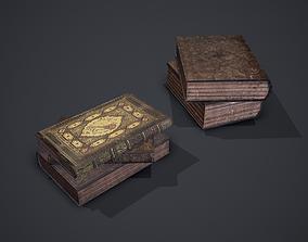 Hard Cover Books 3D model