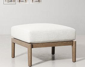 3D model MALTA TEAK OTTOMAN upholstery