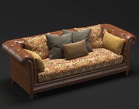 3D model Moreno Leather Sofa