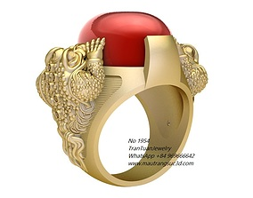 1954 The Three-Legged Money Frog Ring 3D print model