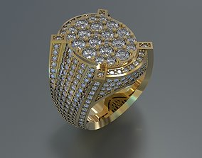 3D print model MEN RING WITH BIG DIAMONDS jewel