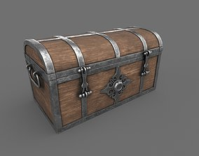 3D model Treasure Chest Closed Game Ready