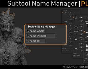 Zbrush - Subtool Name Manager 3D