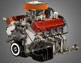 572 Engine - V8 Vintage Muscle Car Engine 3D