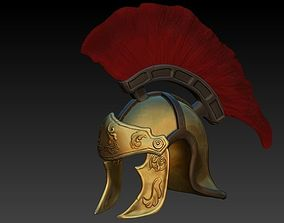 3D asset Roman helmet