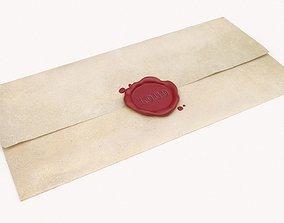 Wax Stamp Letter 3D model